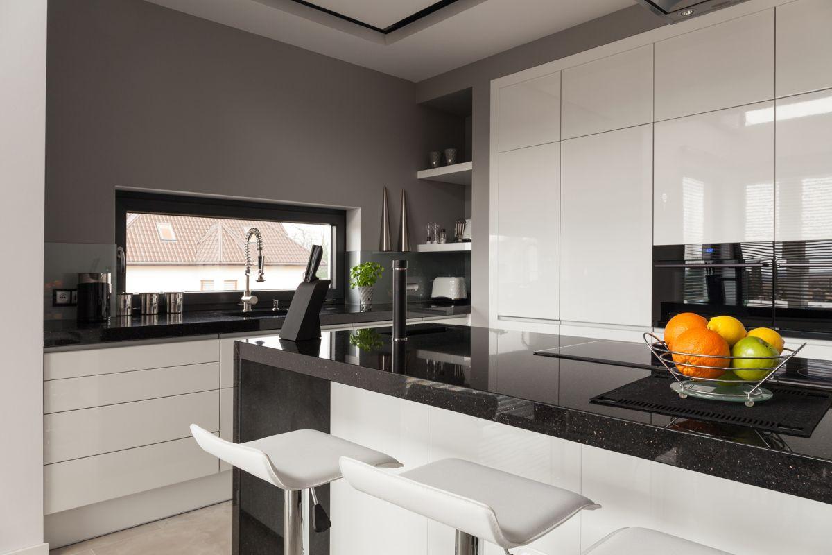 Granitowe blaty kuchenne w nowoczesnej kuchni Bydgoszcz